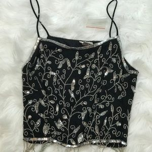 Charlotte Russe Blinged Out Crop Top